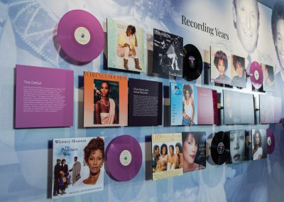 Some of the memorabilia on display at the Whitney! exhibit.
