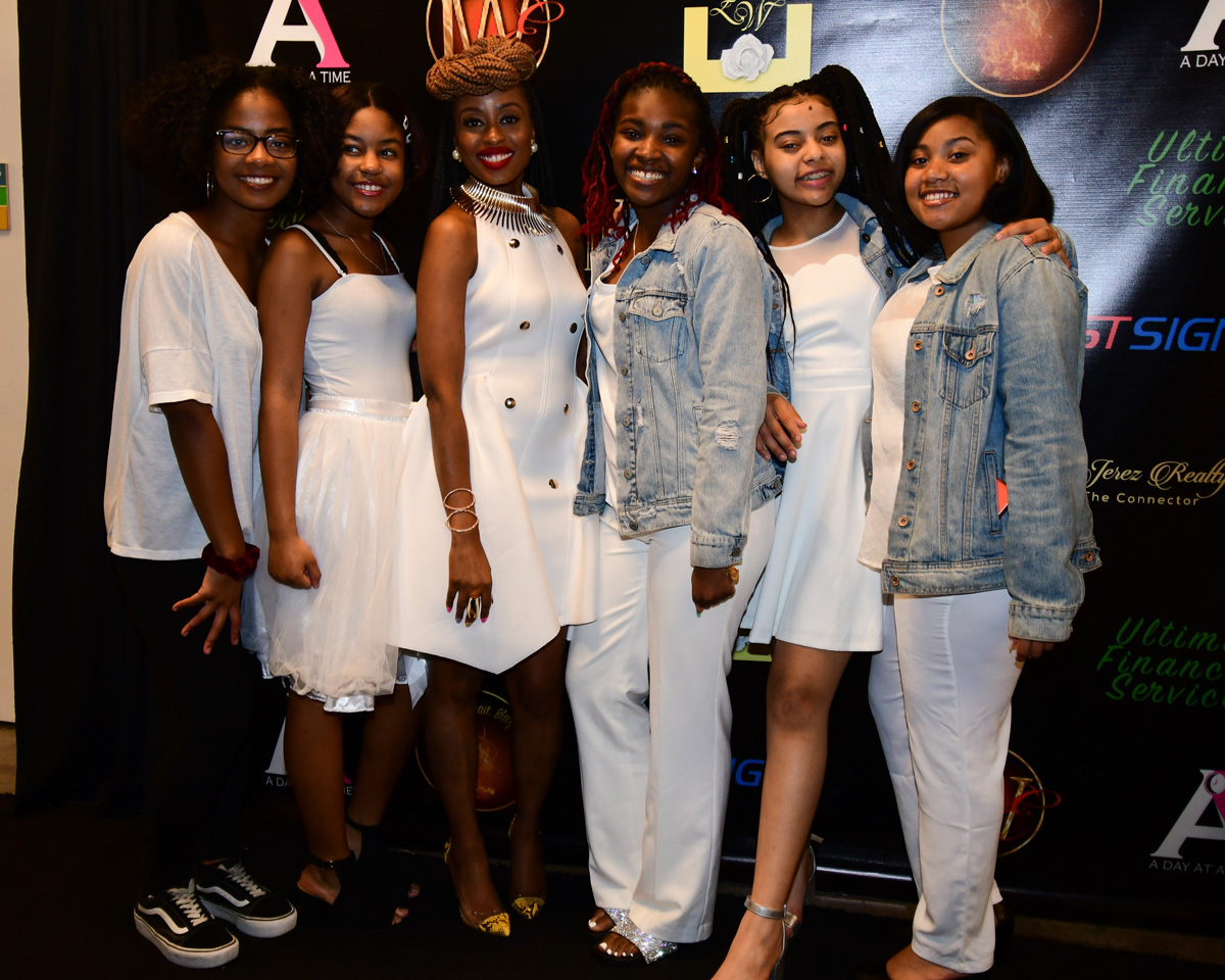 Alexandra Bernard-Simmons, third from the left