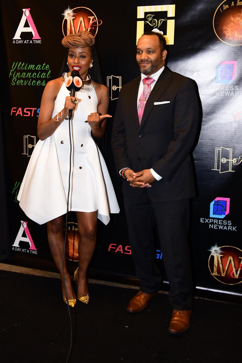 "Kenneth Gifford - Founder of ""The Newark International Film Festival,"" Film Producer, with Alexandra Bernard-Simmons"